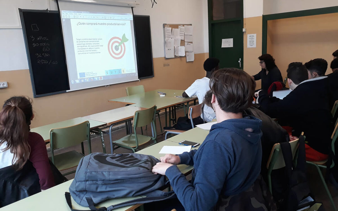 Fourth training session on social entrepreneurship in IES LES VINYES